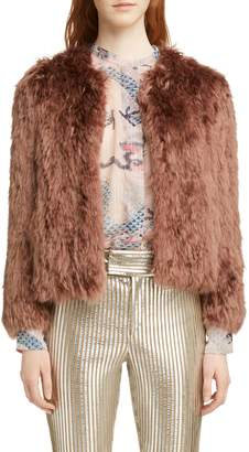 Isabel Marant Agga Genuine Alpaca Fur Coat