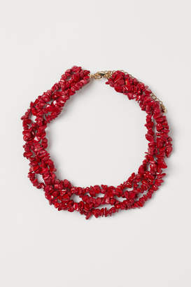 H&M Multi-strand Necklace - Red