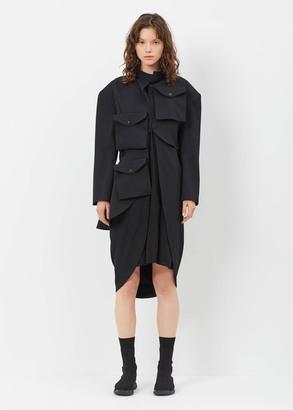 Yohji Yamamoto black pocket triple layer jacket $2,580 thestylecure.com