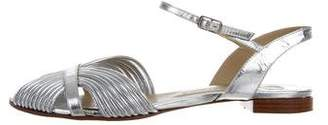 Chloé Patent Leather Open-Toe Flats