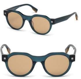 Ermenegildo Zegna 48mm Round Sunglasses
