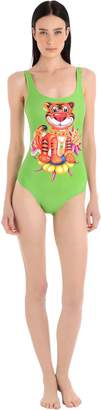 Tiger Printed Lycra Bathing Suit