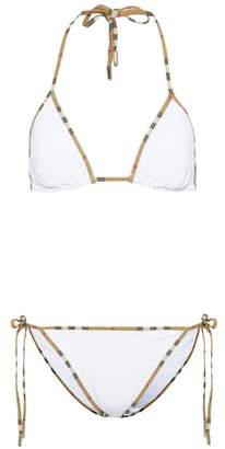 Burberry Vintage Check-trim triangle bikini
