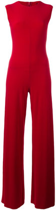 Norma Kamali fitted jumpsuit $154.36 thestylecure.com