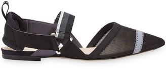 Fendi Colibri pointed toe slingback ballerinas