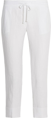 James Perse - Linen Tapered Pants - White $195 thestylecure.com