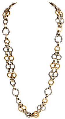 One Kings Lane Vintage YSL Two-Tone Chain Link Necklace