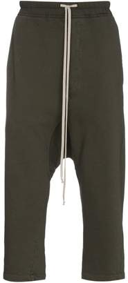 Rick Owens Cropped track pants with drop crotch