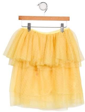 Tia Cibani Girls' Tulle Ruffle Skirt w/ Tags