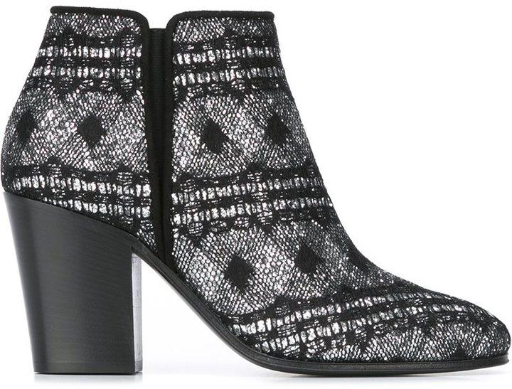 Giuseppe Zanotti Design chunky heel ankle boots