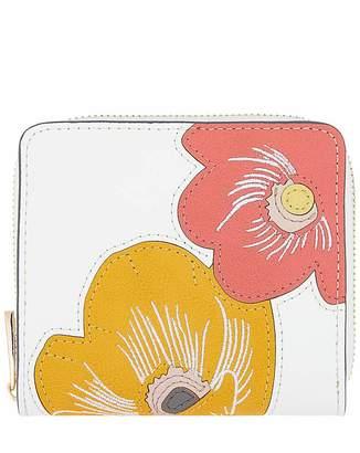 Accessorize Floral Applique Small Wallet