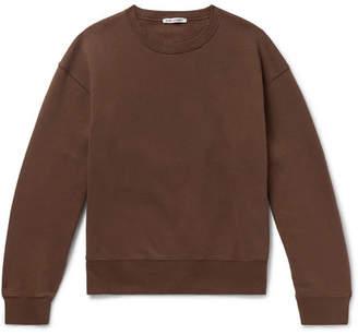 Our Legacy Fleece-Back Cotton-Blend Jersey Sweatshirt