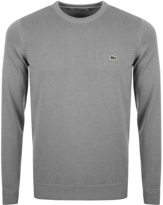 Lacoste Crew Neck Knit Jumper Grey