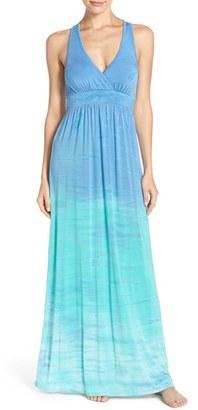 Hard Tail Cutout Back Jersey Maxi Dress $135 thestylecure.com