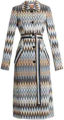 Missoni Long zigzag print coat