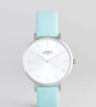 Limit Faux Suede Leather Watch In Green Exclusive To ASOS 36mm