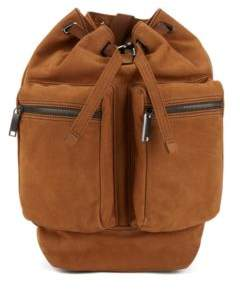 BOSS Hugo Fashion Show Capsule backpack in grainy calf leather One Size Khaki