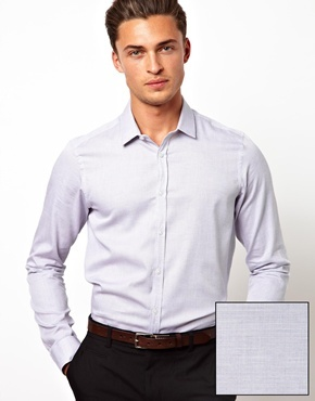 ASOS Smart Shirt in Long Sleeve with Pin Dot