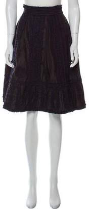 Michel Klein Cher Silk Ruffled-Trimmed Skirt