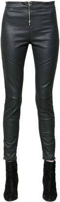 Seductive Moto Skinny Coated Denim Jeans $186 thestylecure.com