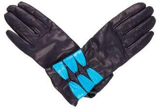 Sermoneta Gloves Leather Bow Gloves