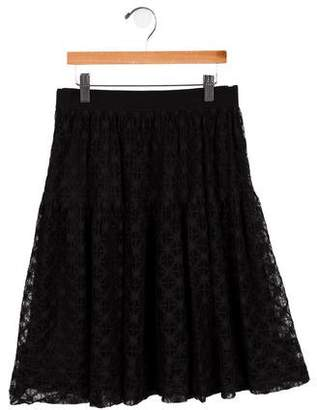 Milly Minis Girls' Lace A-Line Skirt
