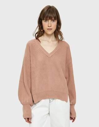 Emma Bishop Sleeve Sweater in Blush