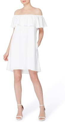 Women's Catherine Catherine Malandrino Off The Shoulder Shift Dress $118 thestylecure.com
