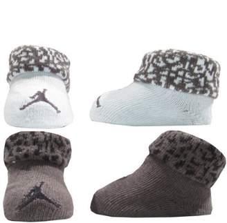 Jordan Nike Newborn Baby Booties (0-6M) Silver, 0-6 Month by