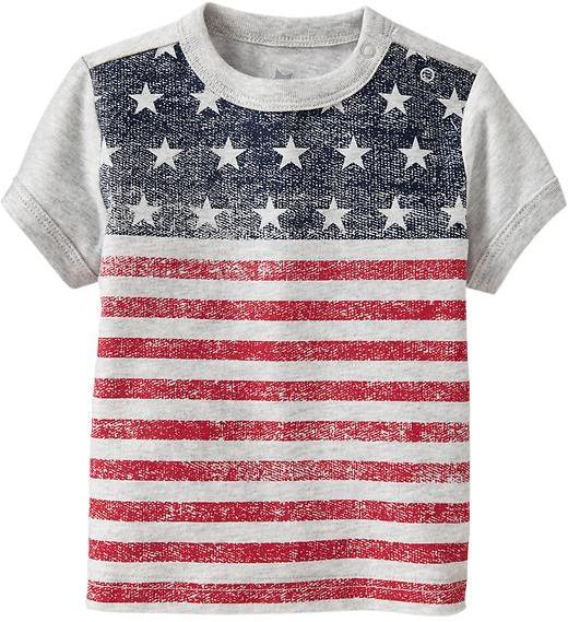 Old Navy Vintage Flag Tees for Baby