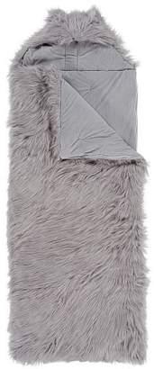 Pottery Barn Teen Himalayan Gray Furrific Hooded Sleeping Bag