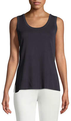 Misook Double-Scoop Tank Top, Plus Size