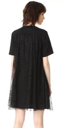 McQ - Alexander McQueen Flared Insert Dress $395 thestylecure.com