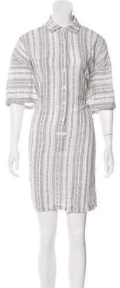 Derek Lam Patterned Button-Up Dress