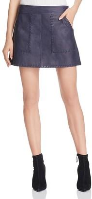 Rebecca Minkoff Leather Mini Skirt $398 thestylecure.com