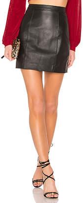 L'Academie The Leather Mini Skirt