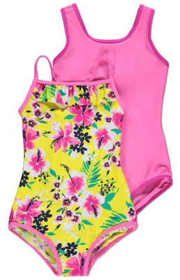 George Pink Floral Swimsuits 2 Pack