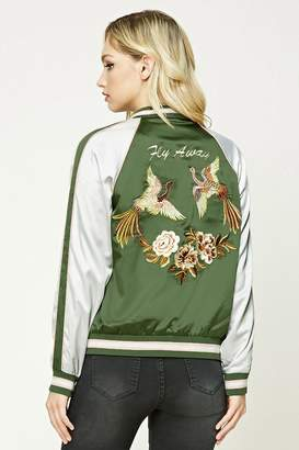 Forever 21 Contemporary Graphic Bomber