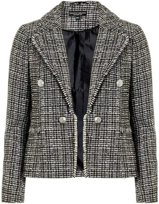 Womens Monochrome Boucle Jacket