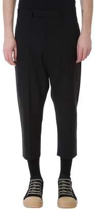 Rick Owens Cropped Black Wool Pants
