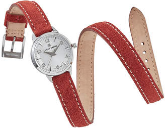 Lucky Brand Women Torrey Mini Rust Suede Leather Wrap Strap Watch 28mm