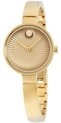 Movado Women's 28mm Gold-Tone Steel Bracelet & Case Sapphire Crystal Quartz Analog Watch 3680021