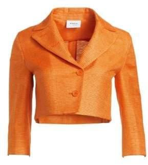 Akris Punto Cropped Silk Jacket