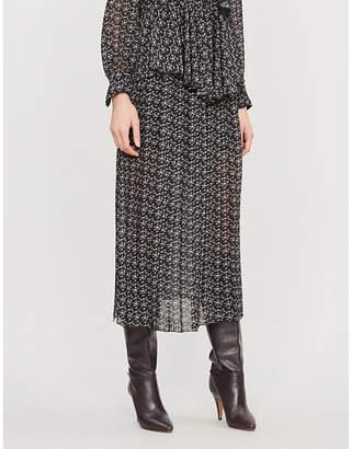 See by Chloe Floral-print A-line crepe midi skirt