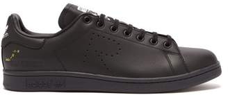adidas Stan Smith Low Top Leather Trainers - Mens - Black