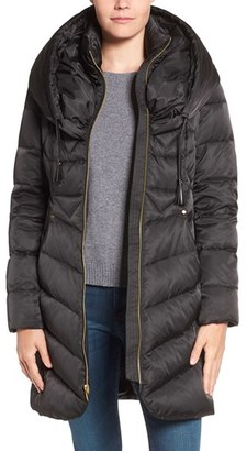 Women's Via Spiga Pillow Collar Down & Feather Fill Coat $228 thestylecure.com