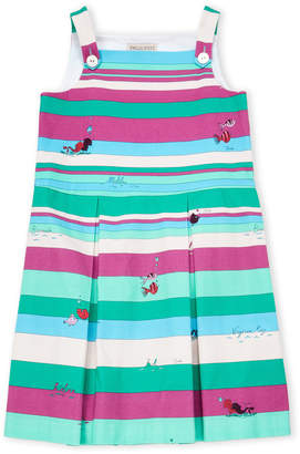 Emilio Pucci Girls 7-16) Square Neck Stripe Dress