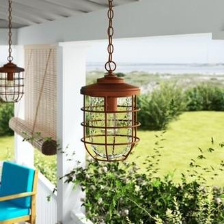 Breakwater Bay Woolverton Cage 1-Light Outdoor Hanging Lantern Breakwater Bay