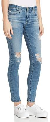 AG Jeans Ankle Legging Jeans in 13 Years Pacifica Destructed