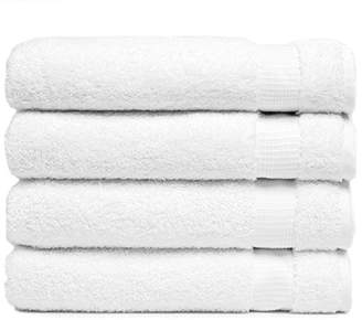 +Hotel by K-bros&Co Luxury Bath Towels Turkish Cotton Extra Large White Bathroom Towel 27X54 Set of 4 Ultra Soft